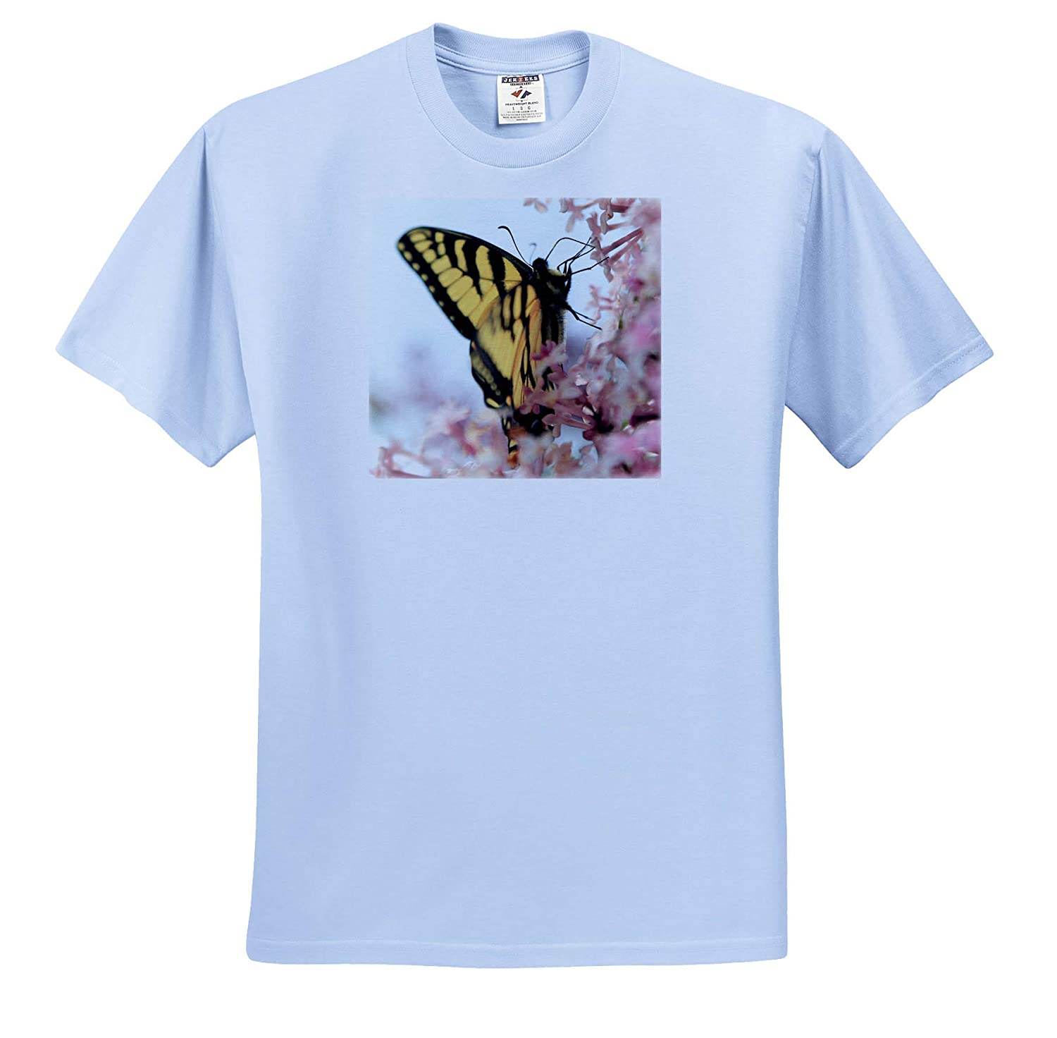 - T-Shirts Photo of an Eastern Tiger Swallowtail Pollinating Some Lilac Flowers 3dRose Stamp City Nature