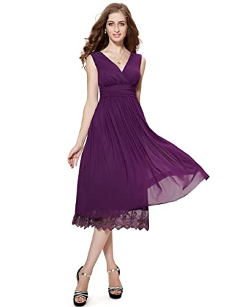53170b2f72a Ever-Pretty - Tailleur-robe - Cocktail - Femme Violet MoradoScuro 36 ...