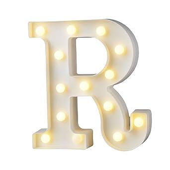 Up In Lights Led Beleuchteter Holzbuchstabe Buchstabe Beleuchtet Warmweisses Led Licht Beleuchtete Holz Buchstaben Fur Geburtstag Party Hochzeit R