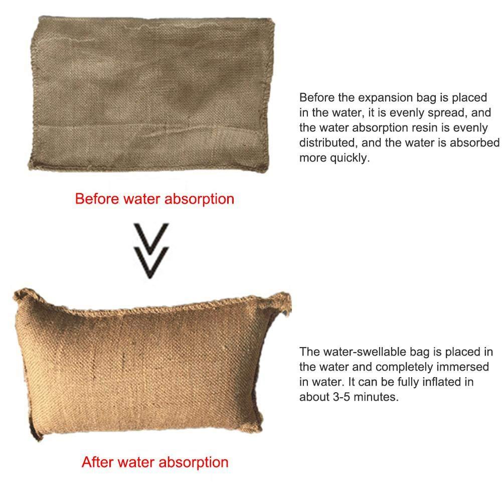 ningxiao586 5//10 15PCS hessois Sacs de Sable Protection Contre Les inondations Sandbag Absorption deau Expansion Sac Sandbag