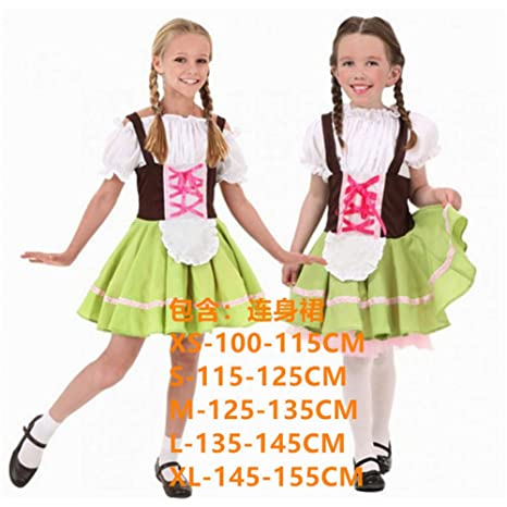 GBYAY Disfraz de Halloween para niñas Dirndls Ropa de Cerveza Día ...