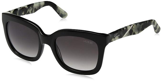 Amazon.com: Guess acetato de la mujer anteojos de sol, BLK ...
