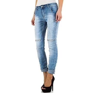 9b6d8964 Place du Jour Women's Jeans - Blue - UK 12: Amazon.co.uk: Clothing