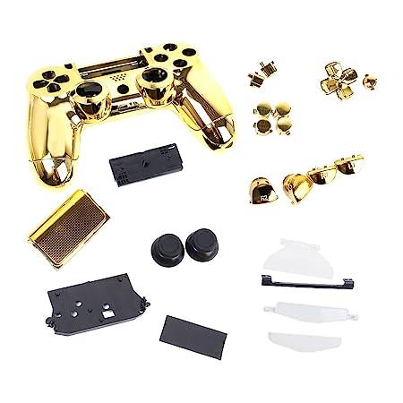 Metall Plated Schutzhülle Komplett Gehäuse Set für Sony PS4 Controller Gold