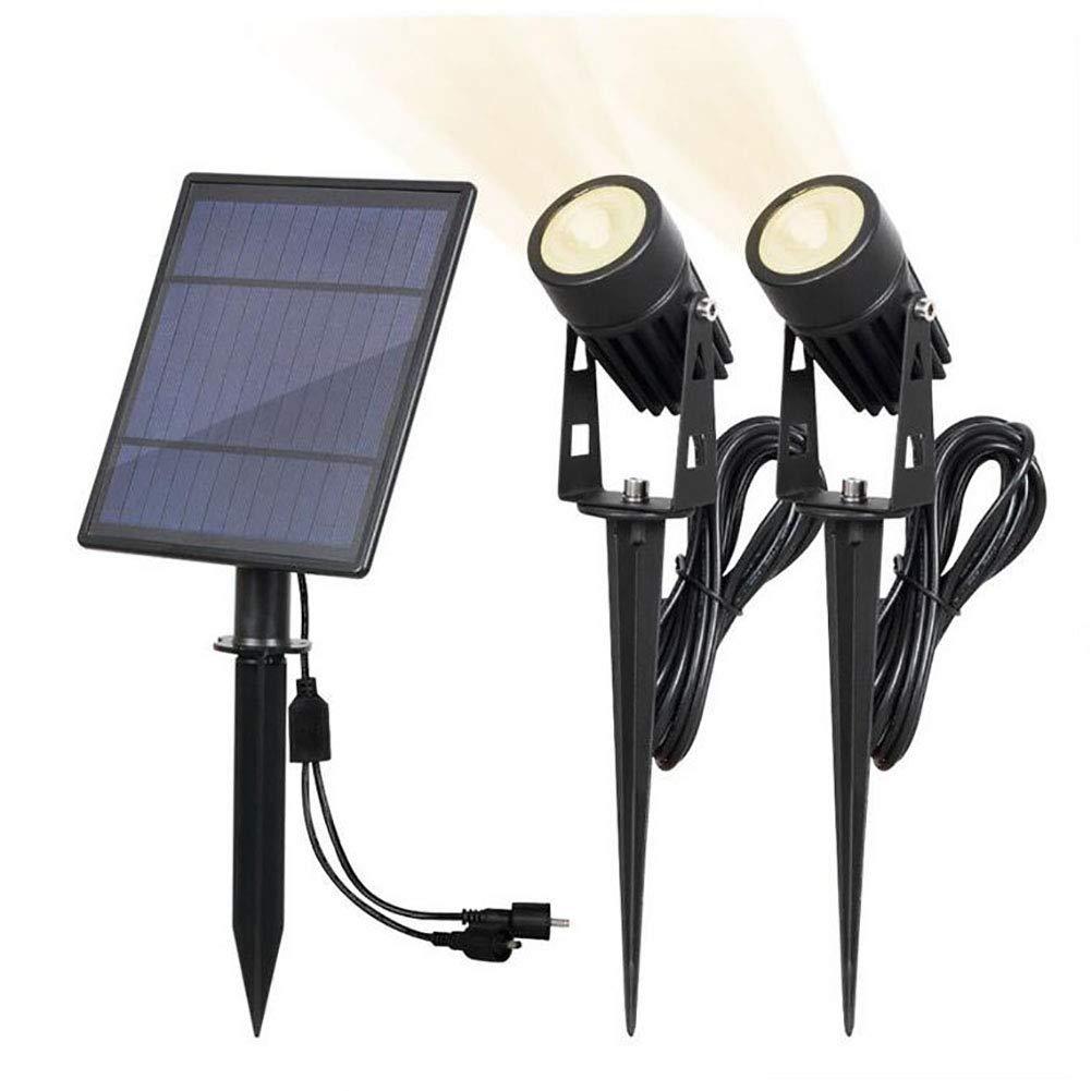 XFF Solare faretto Super Luminosa 2 in 1 Paesaggio Illuminazione 4000K IP65 Impermeabile Luce a Muro Auto On off