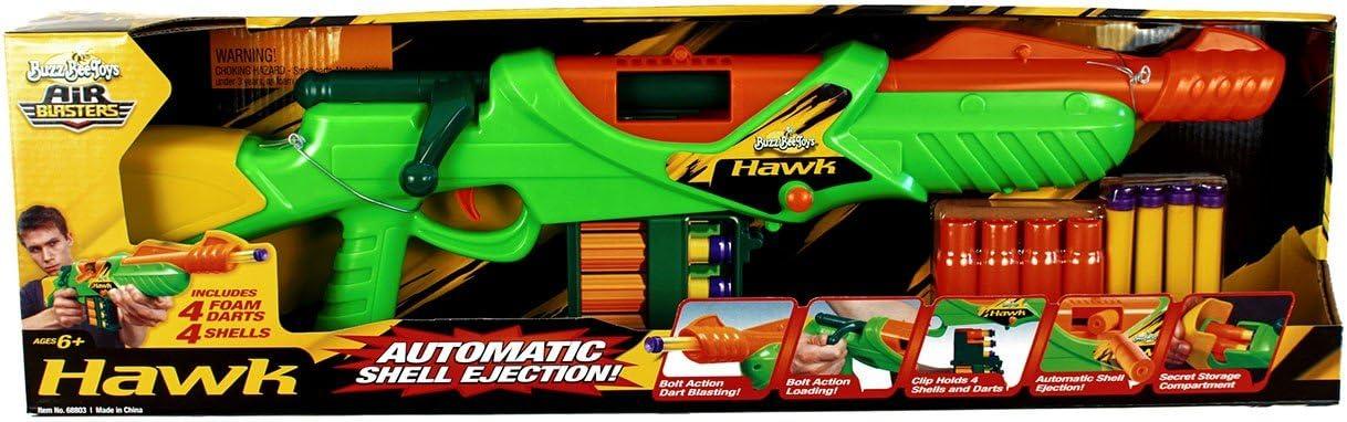 Amazon Com Buzz Bee Toys Hawk Bolt Action Foam Dart Blaster Toys Games