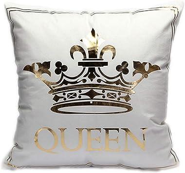 Home Bronzing Cushion Pillow Cover Gold Printed Decor Sofa Pillowcase Seat Car