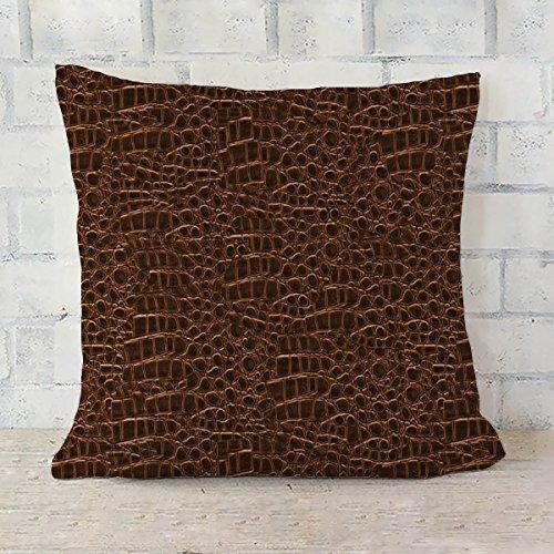 ArtzFolio Crocodile Hide 2 Cushion Cover Throw Pillow Canvas 24