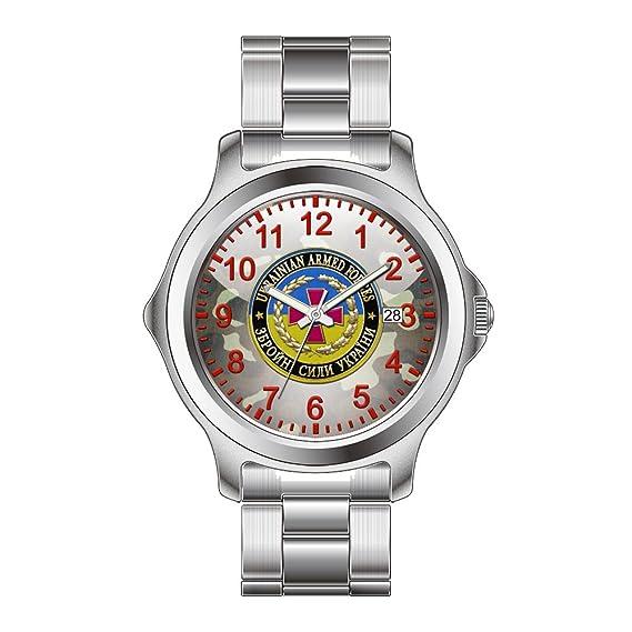 FDC - Navidad regalo relojes hombre Fashion FECHA acero inoxidable reloj de pulsera de cuarzo japonés Edition relojes especiales de las fuerzas armadas: ...