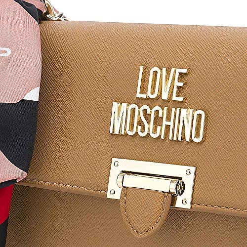 Love Moschino Borsa a spalla foulard Cammello
