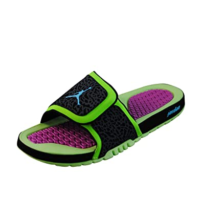 87f5dbcd4 Air Jordan Hydro II - Flash Lime Gamma Blue-Black-Club Pink