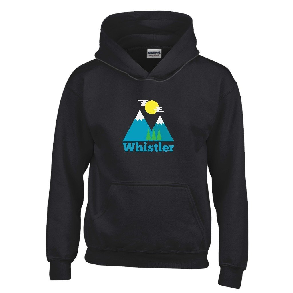 Whistler BC Bluebird Day Youth Hoodie Canada Kids Sweatshirt