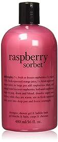 Philosophy Raspberry Sorbet Bath and Shower Gel for Unisex, 16 Ounce