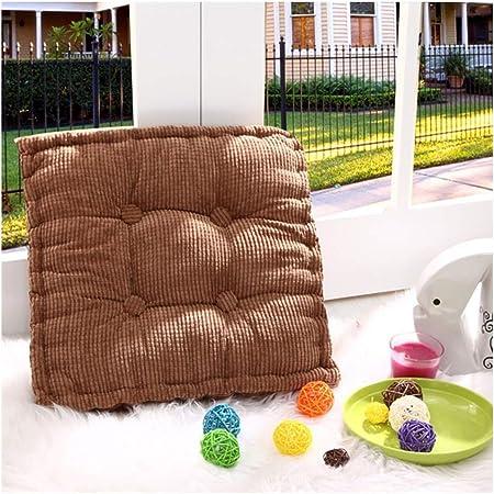 Cojines para Muebles de jardín Lounge sillas de Mimbre de Exterior Asiento Grueso Acolchado Aprox. ,Marrón,40X40cm: Amazon.es: Hogar