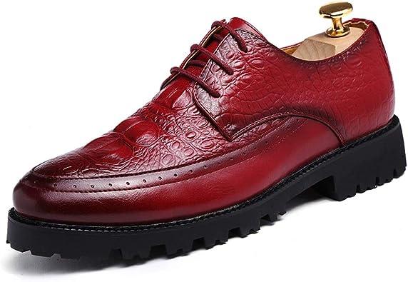 JUJIANFU shoes Chaussures à Lacets en Cuir synthétique pour
