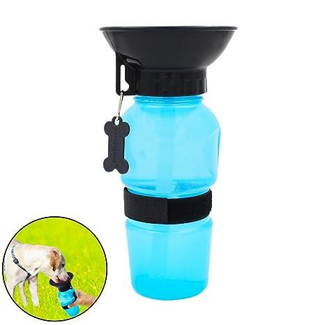 KOUZEN Botellas de Agua para Perros Suministros de Mascotas al Aire Libre Que viajan alimentan Auto