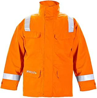 Hydrowear 043530OR Morra Waterproof Breathable Parka, 80% Cotton/19% Polyester/1% Anti Static, Medium Size, Orange