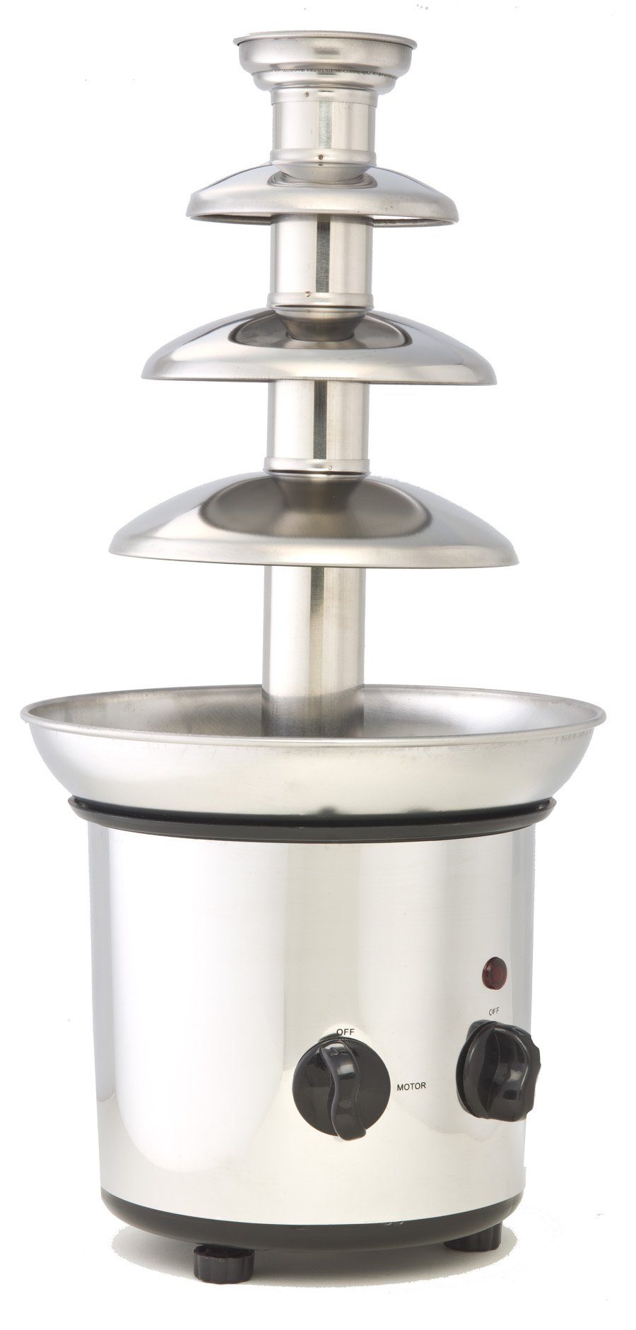 ClearMax Electric 3 Tier Chocolate Fountain, Stainless Steel