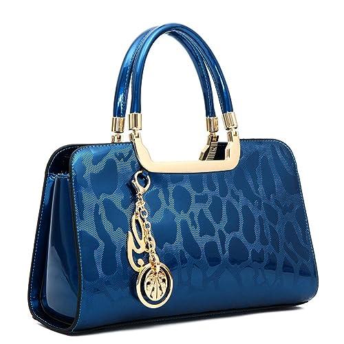 Image not available for. Color  Women s Patent Leather Handbags Designer  Totes Purses Satchels Handbag Ladies Shoulder Bag Embossed Top Handle Bags 0a9fd27166