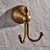 GUMA Wall Mount Bathroom Bath Shower Antique Brass Finish Solid Brass Robe Hooks (Series 1-2)