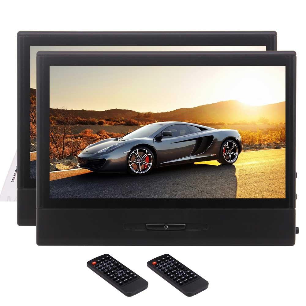 Eincarマルチリージョンデュアル8インチデジタルタッチTFTスクリーン車のヘッドレストDVDプレーヤーサポートDVD / MP3 / MP4 / USB / SD / 1080Pビデオ/ FMトランスミッター/ IRトランスミッター+リモコン B0788JJ2RM