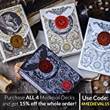 Medieval Black Playing Cards with Unique