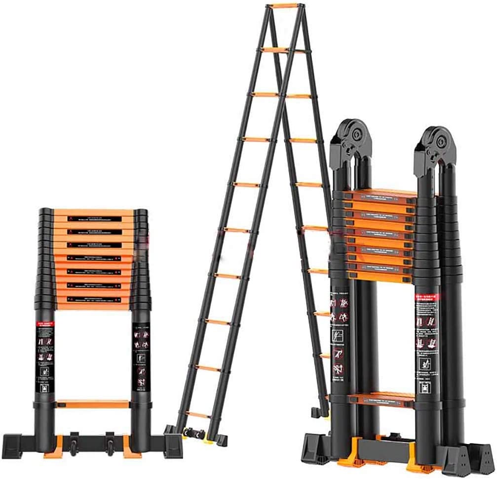 Telescópico Aluminio Aleación Escalera,multifunción Escalera Extensión Escaleras De Mano Extensible Anti-slip Plegable Escalera Multi-propósito Escalera-b3 2.7+2.7m: Amazon.es: Bricolaje y herramientas