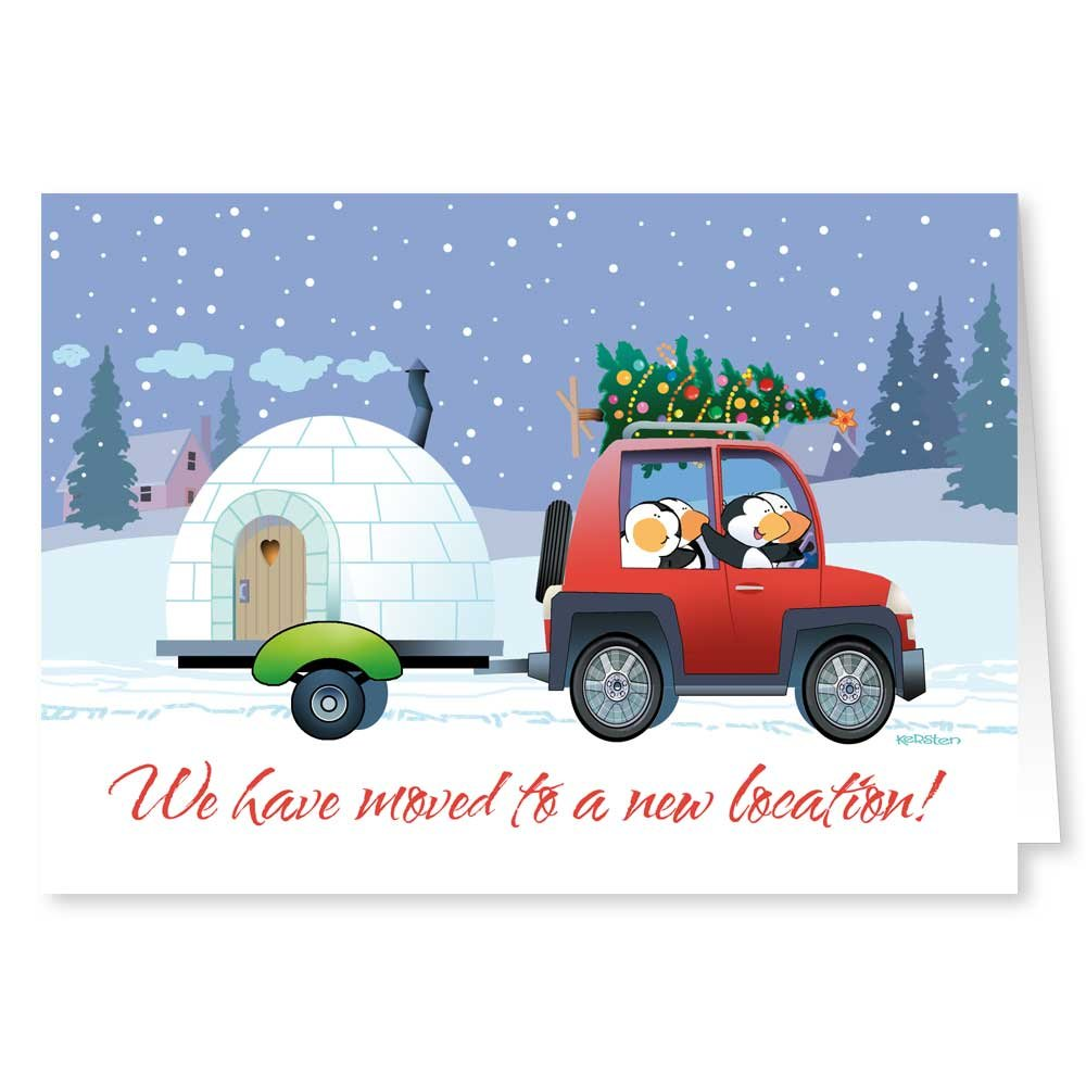 Amazon.com: New Address / We've Moved Holiday Card 18 Cards ...