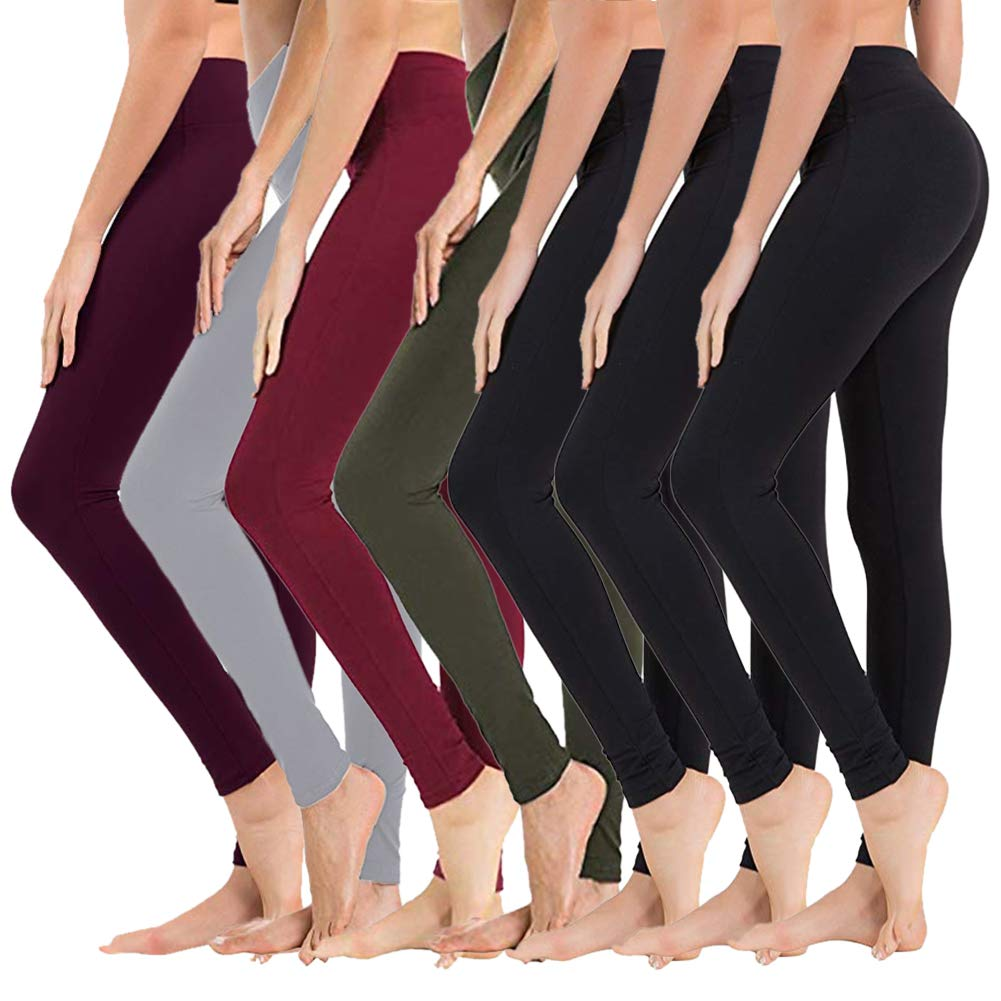 SYRINX High Waisted Leggings for Women - Soft Athletic Tummy Control Pants for Running Yoga Workout by SYRINX