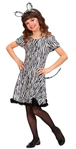 Karneval Klamotten Zebra Kostüm Mädchen Zebra Kleid Kinder