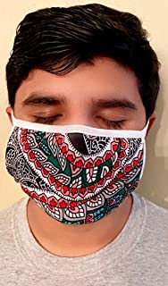 product image for Made in USA Fashion Protective Face Masks Unisex Washable Cotton Mask Hand Made (Floral Bandanna)