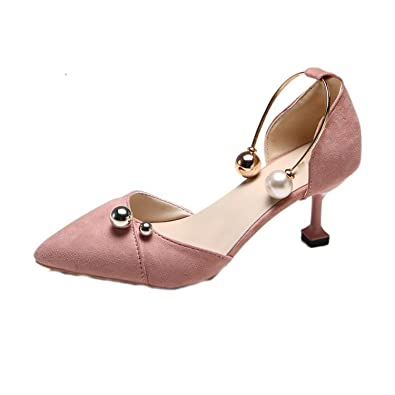 163f4db7be1 Women Sandals 2018 Summer New Style Solid Beaded high Heels Korean Female  Shoes