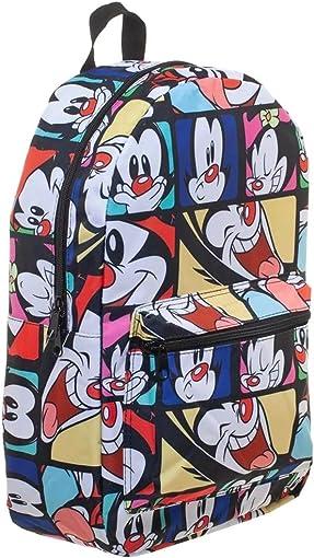 Animaniacs Cartoon Sublimation Bag w Wakko and Yakko Geo Print Design