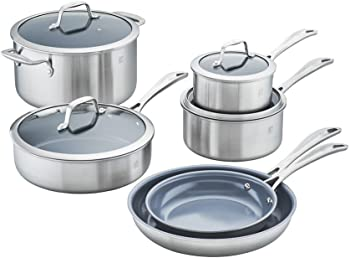 Zwilling J.A. Henckels 64080-001 Spirit Ceramic Nonstick 10-Piece Cookware Set