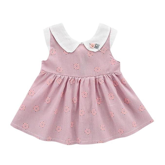 vestidos de niña, ASHOP Vestido sin mangas estampado de flores vestidos de fiesta princesa niña