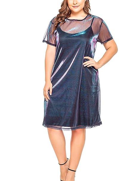 ORICSSON Women\'s Plus Size Metallic Color Shoulder Straps ...