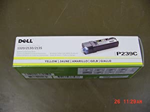 Dell Computer P239C Yellow Toner Cartridge 1320c/2135cn/2130cn Color Laser Printer