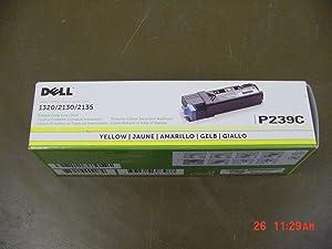 Dell Computer P239C Yellow Toner Cartridge 1320c/2135cn/2130cn Color Laser Printer