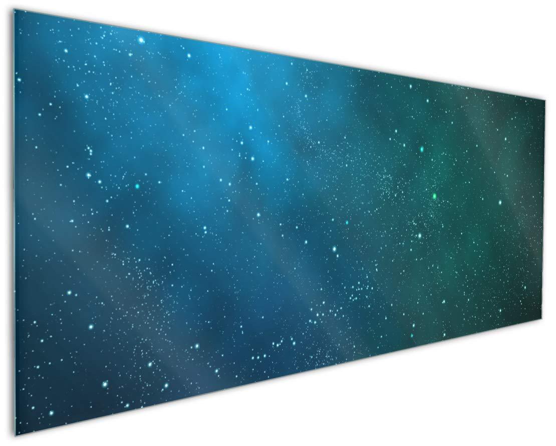 Wallario Küchenrückwand aus Glas, in Premium Qualität, Motiv  Sternenhimmel - Milchstraße und Sterne bei Nacht   Spritzschutz   abwischbar   Pflegeleicht