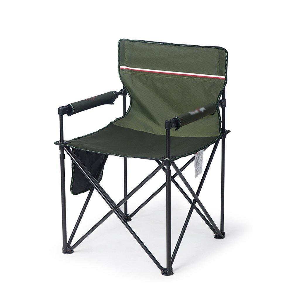 ZGL 旅行椅子 屋外折りたたみ椅子ポータブルビーチチェアスケッチチェア背もたれアームレストツーリストチェアビーチチェア (色 : アーミーグリーン) B07CXZ4CS6 アーミーグリーン アーミーグリーン