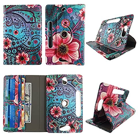 Pink Flower Paisley tablet case 8 inch for Kindle fire HD 8