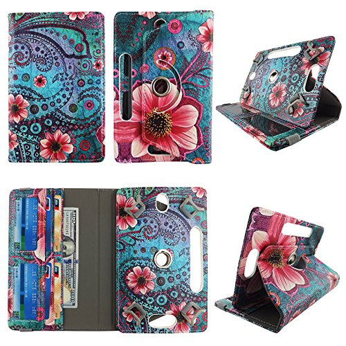 Pink Flower Paisley tablet case 10 inch for Insignia Flex 10.1 10