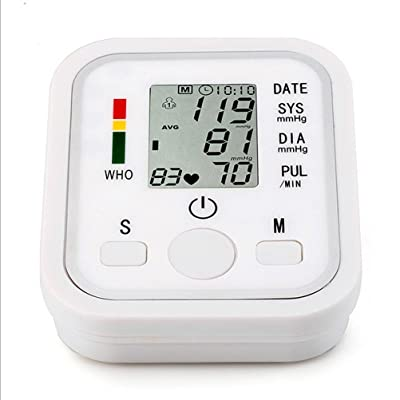 AIMS@ Sphygmomanomètre électronique automatique Compteur de bras Poignet d'impulsion Moniteur de pression artérielle Bras électronique Intelligent Voice Moniteur de pression artérielle Sphyg