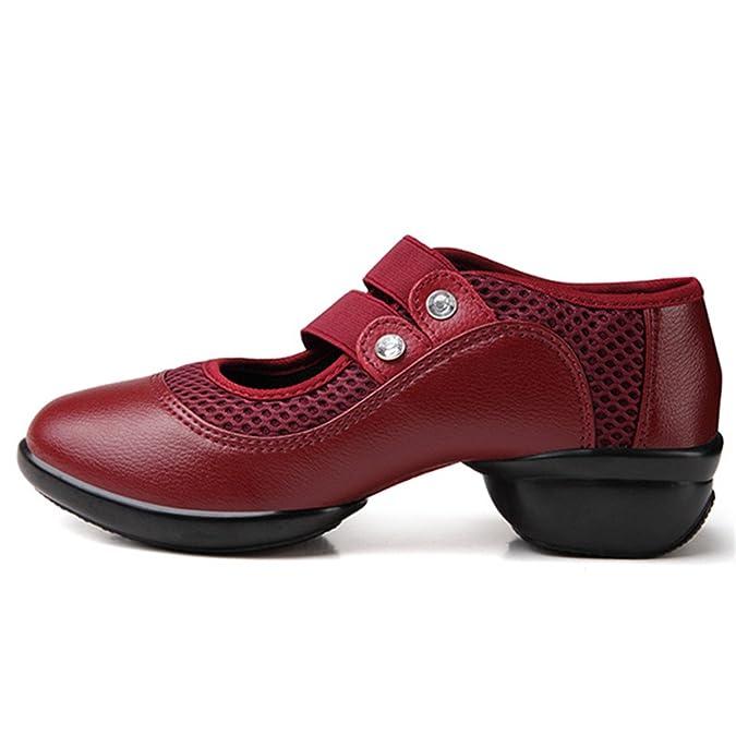 gracosy Merceditas Zapatos Bajos de Mujer Mocasines Cerrados de tacón Medio para Mujer Zapatos Deportivos en Primavera y Verano Zapatillas Ocasionales ...