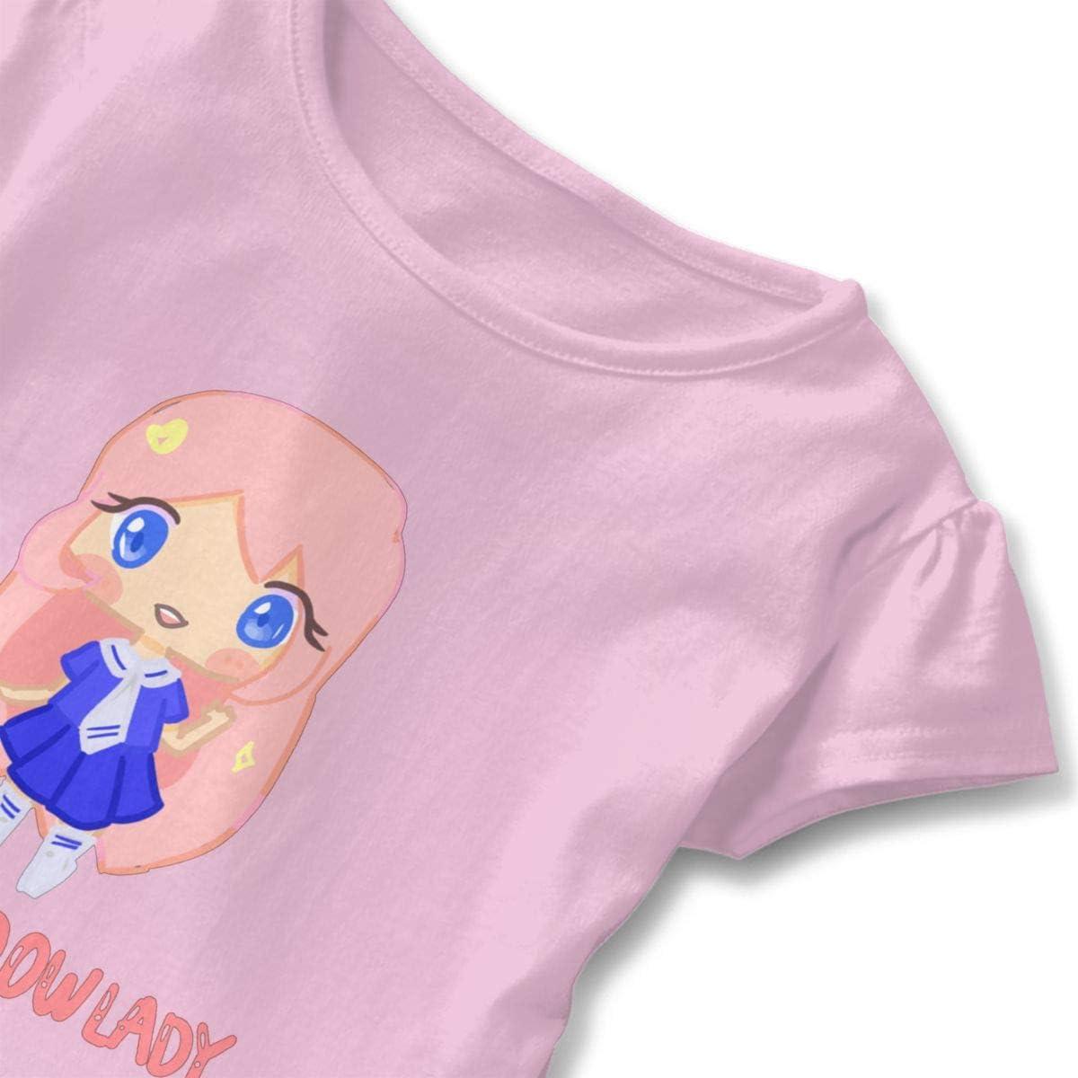 LDShadowLady Baby Girls Novelty Short Sleeve Cotton T-Shirt White