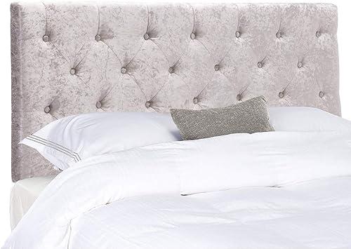 Tufted Headboard Queen Upholstered Headboard Light Grey Velvet
