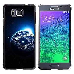 Qstar Arte & diseño plástico duro Fundas Cover Cubre Hard Case Cover para Samsung GALAXY ALPHA G850 ( Earth Planet Universe Cosmos Moon Art)