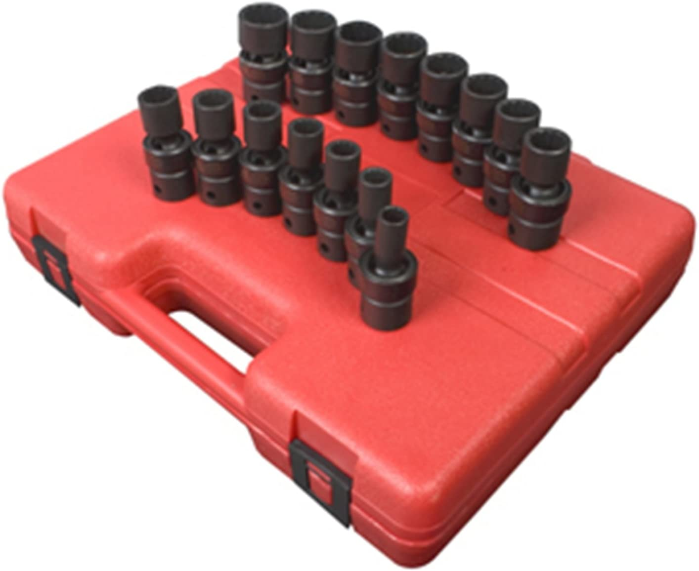 Sunex Tools 3691 13 Piece 3//8 Drive 12 Point Flex Impact Socket Set Metric