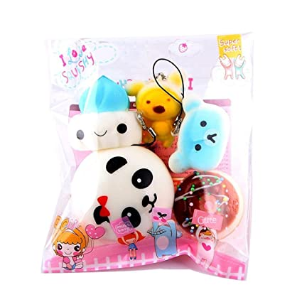TMEOG Comida Squishy Slow Rising Kawaii Mini Tostadas Donuts ...