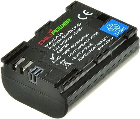Original Chili Power Baterías LP-E6 para Canon EOS 6d, EOS 7d, EOS 60d, EOS 60Da, EOS 70d, Canon EOS 5d Mark II, EOS 5d Mark III: Amazon.es: Electrónica